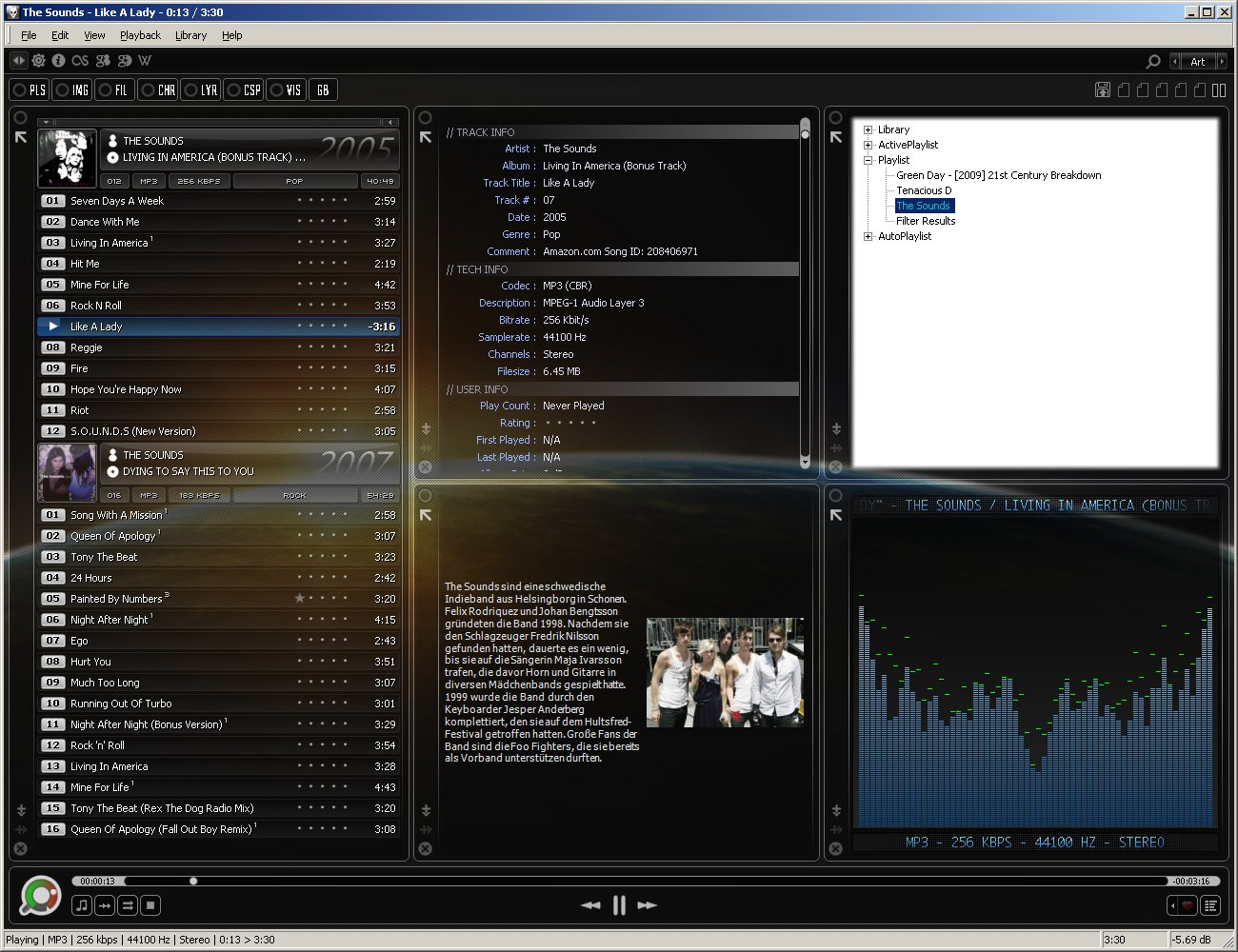 Foobar2000 skin for Food bar 2000