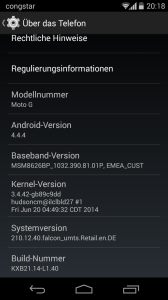 Moto G - Android 4.4.4